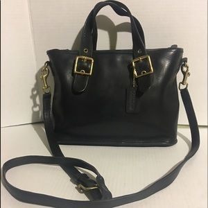 Coach Vintage Black leather satchel/ handbag